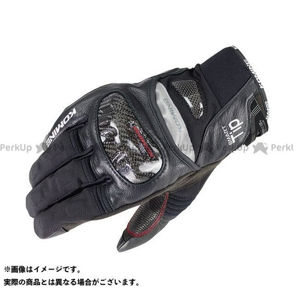【無料雑誌付き】コミネ GK-819 カーボンプロテクトウインターグローブ(ブラック) サイズ:3XL KOMINE