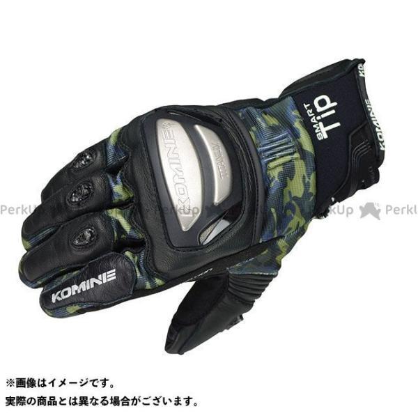 【雑誌付き】コミネ GK-214 チタニウムメッシュグローブ(カモ/ブラック) サイズ:S KOMINE