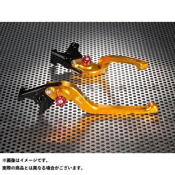 【無料雑誌付き】ユーカナヤ X-ADV Rタイプ 可倒式 アルミ削り出しビレットレバー(レバーカラー:ゴールド) カラー:調整アジャスター:オレンジ…