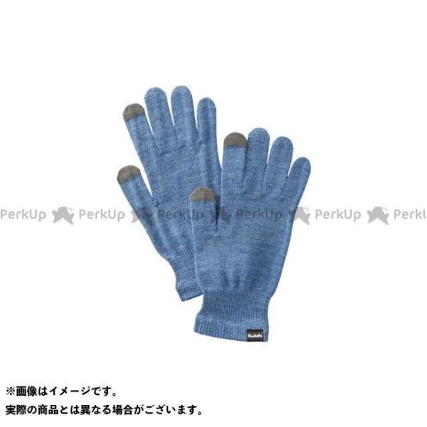 【無料雑誌付き】プロモンテ GI006U メリノウール インナーフィットグローブ(ブルー) サイズ:M PUROMONTE