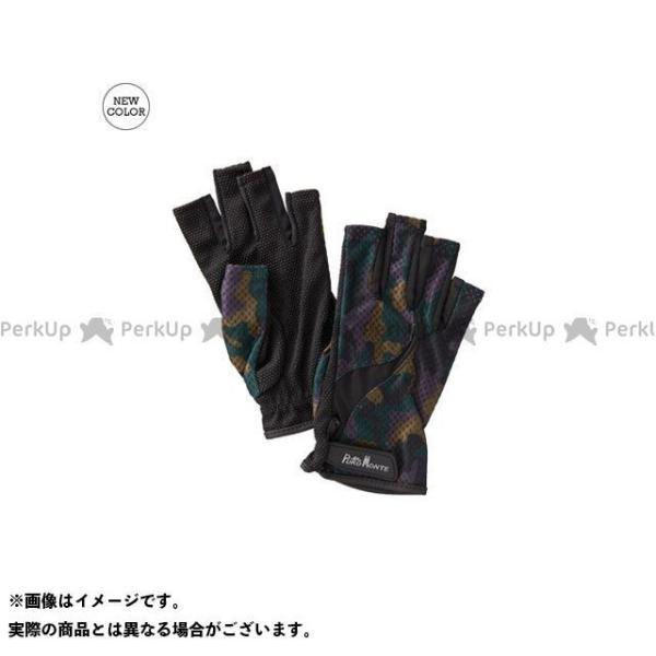 【雑誌付き】プロモンテ GB058U UVケアトレッキンググローブ フィンガーレス(オリーブカモ) サイズ:M PUROMONTE