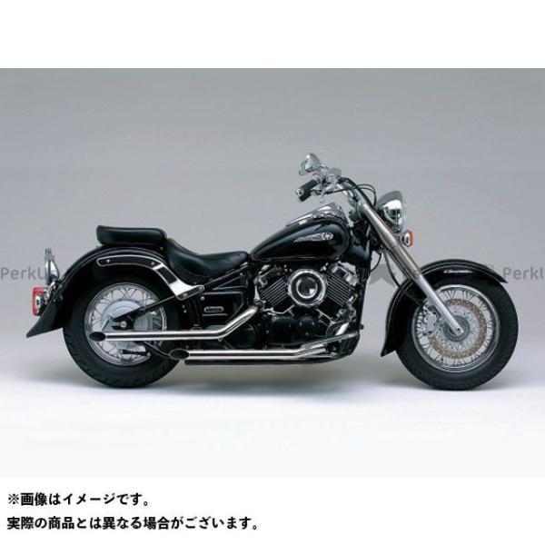 デイトナ ドラッグスター400(DS4) ドラッグスタークラシック400(DSC4) ドラッグパイプマフラー(スチール/クロームメッキ) motoride
