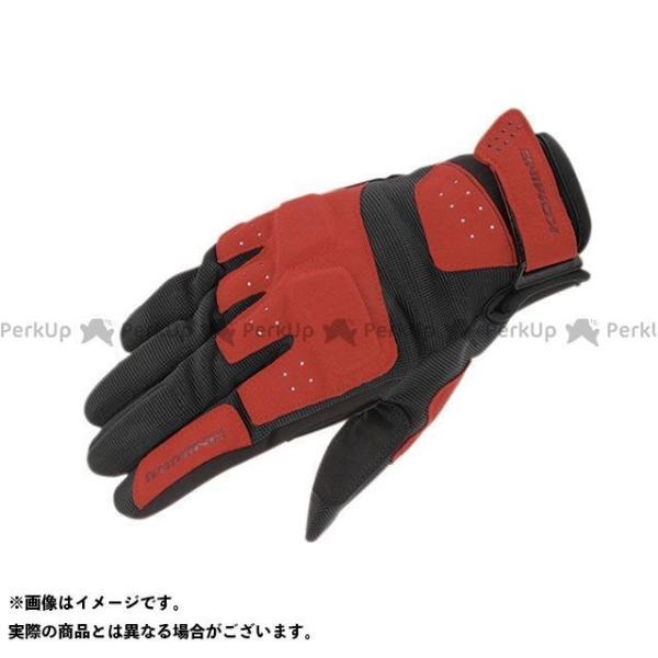 【雑誌付き】コミネ GK-227 アーバンメッシュグローブ(レッド/ブラック) サイズ:L KOMINE