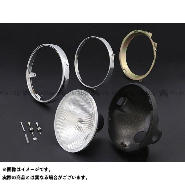 ブライテック カワサキ汎用 ヘッドランプ コンベックスシリーズ リム付(旧カワサキ系) ブラックケース motoride
