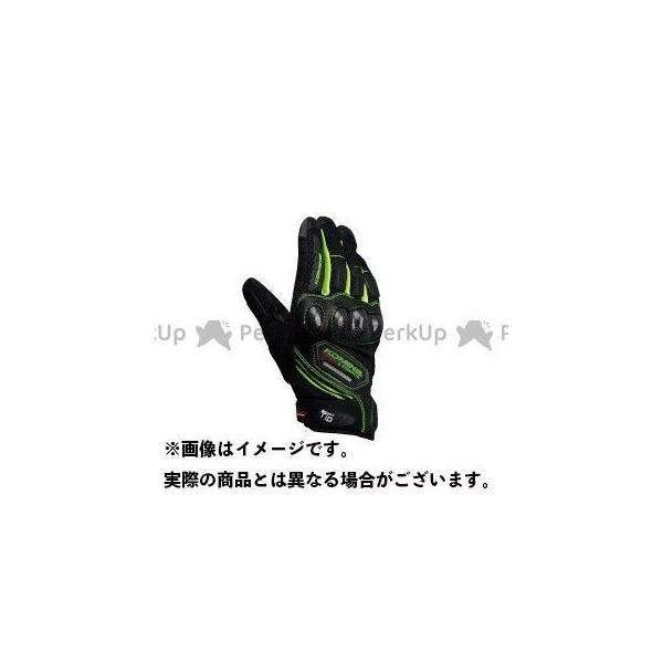 【雑誌付き】コミネ GK-167 カーボン プロテクトメッシュグローブ カラー:ブラック/ネオン サイズ:M KOMINE