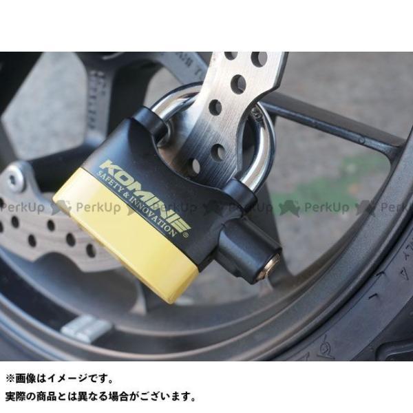 コミネ LK-120 アラームパッドロック(ブラック/イエロー)   KOMINE motoride 02