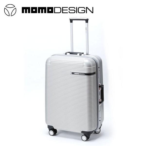 66b5822727 モモデザイン/MOMO DESIGN MDトロリーケース 85L スーツケース キャリーケース シルバー ABS樹脂 ...