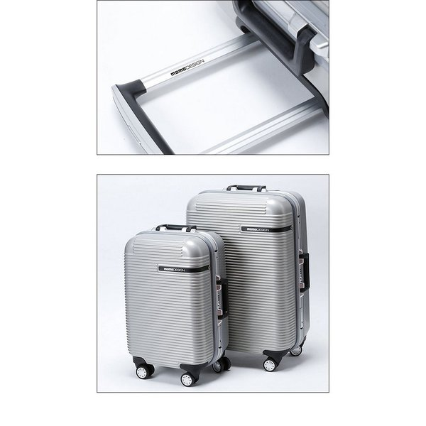 e7a7c77167 ... モモデザイン/MOMO DESIGN MDトロリーケース 85L スーツケース キャリーケース シルバー ABS樹脂