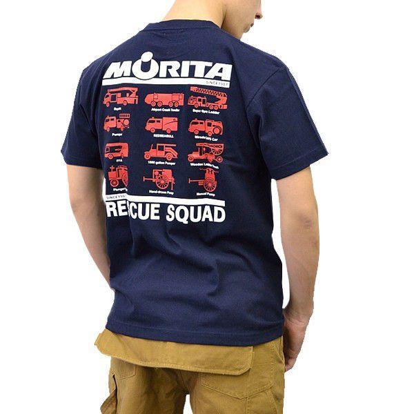 (まとめ買いで送料無料)プリントロゴT モリタ×レスキュースクワッド Tシャツ type7 ネイビー(メンズ tシャツ ロゴtシャツ ブランド 半袖)|motormagazine|02