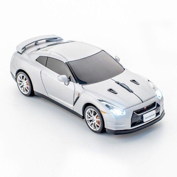 クリックカーマウス 日産 GT-R(R35)ワイヤレスマウス(無線電池式)シルバー(マウス ワイヤレス 車 pc パソコン パソコンマウス パソコン周辺機器 デザイン) motormagazine