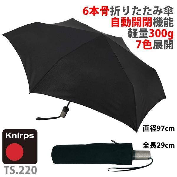 クニルプス TS.220 自動開閉式折りたたみ傘 / Knirps KNTS220 Slim Medium Duomatic Safety(送料無料) motormagazine