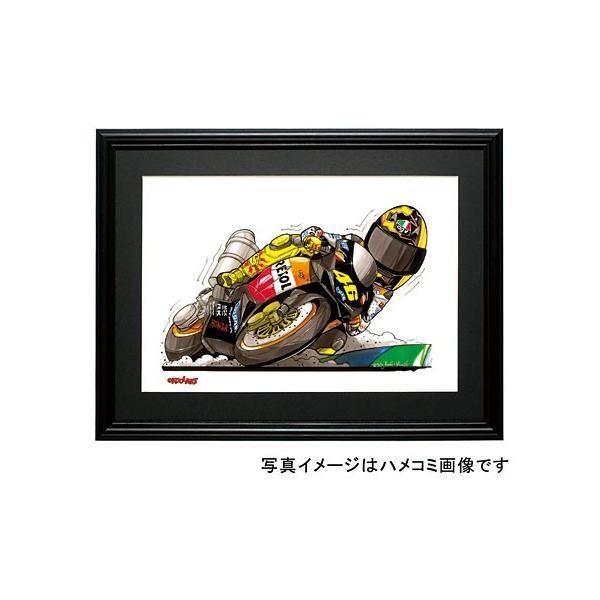 イラスト ロッシ MotoGP(2003)|motorparade