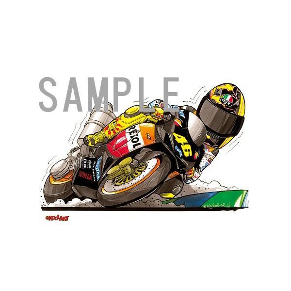イラスト ロッシ MotoGP(2003)|motorparade|02