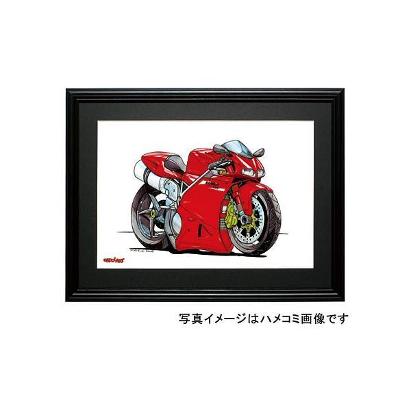 イラスト ドカティ 998(赤)|motorparade