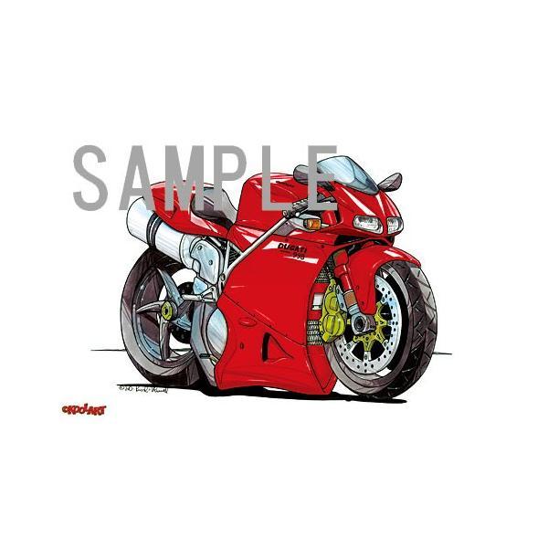 イラスト ドカティ 998(赤)|motorparade|02
