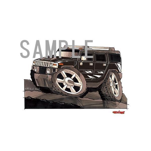 イラスト ハマーH2 SUV(黒)|motorparade|02