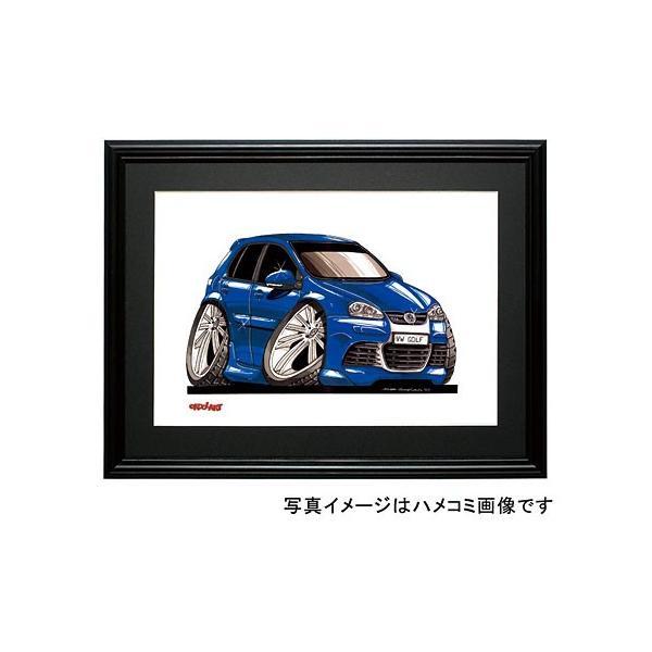 イラスト ゴルフV(R32・青)|motorparade