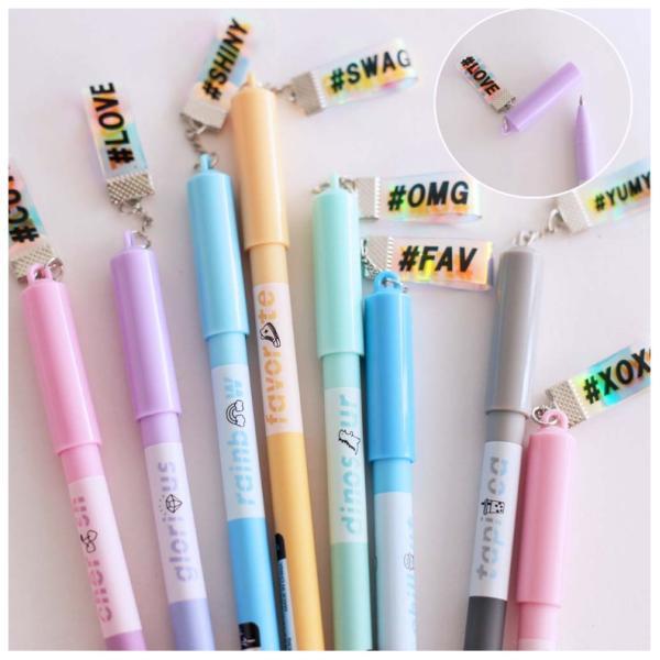 カラーペン 可愛い ゲルペン T-IROマスコット付きゲルペン6本セット 女の子 かわいい 人気 おもしろ 子供  文具 文具セット 小学生 中学生 誕生日プレゼント