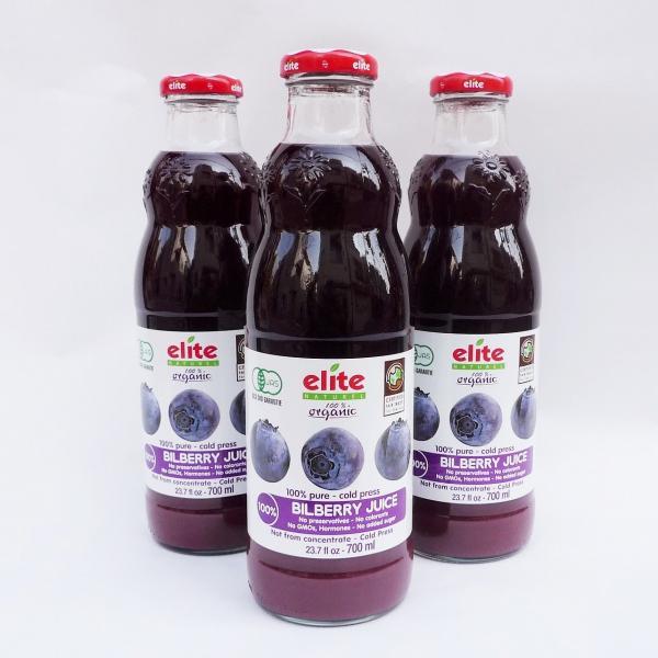 果物ジュース オーガニック(有機)ビルベリー(ストレート)ジュース 1箱(9本) 送料無料 賞味期限2022.10.02