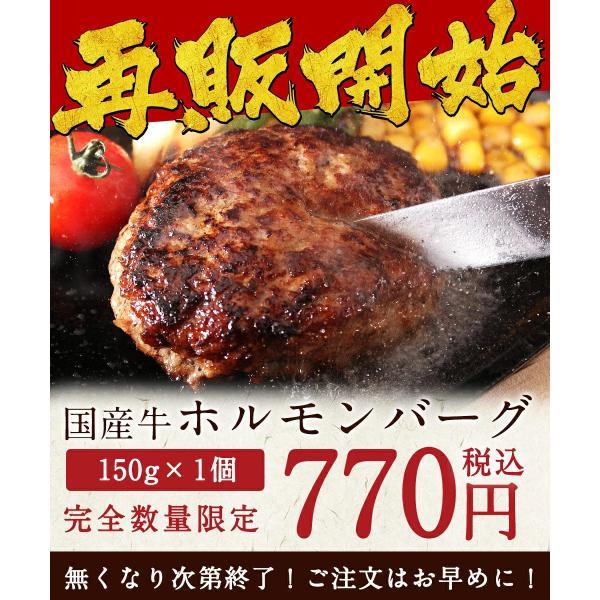 国産牛100%!無添加!黄金屋国産牛ホルモンバーグ(150g×1パック)|motunabe|02