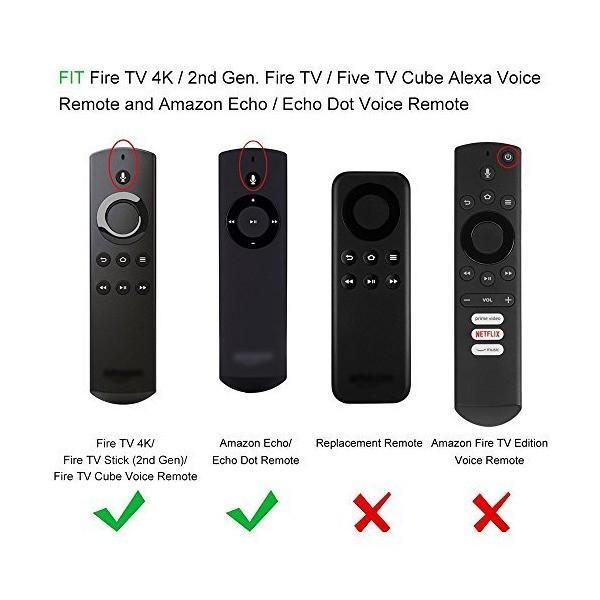 Fintie Fire TV Stick 音声認識リモコン専用カバー 軽量 滑りとめ 衝撃吸収 シリコン保護ケース (ブラック)|mount-n-online|03