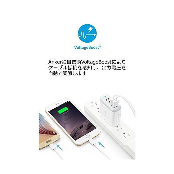 Anker PowerPort 4 (40W 4ポート USB急速充電器) 【急速充電/iPhone&Android対応/折畳式プラグ搭載】 mount-n-online 04