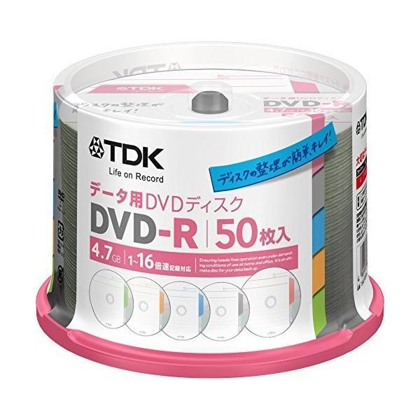 TDK データ用DVD-R 1回記録用 4.7GB 1-16倍速 インデックス・ディスクシリーズ 50枚スピンドル DR47TC50PA