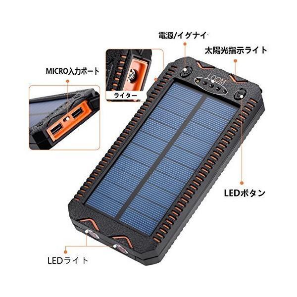 2018年改良版 LOOM 超大容量20000mAh モバイルバッテリ ソーラーチャージャー 2USB出力ポート 防水・防塵・耐衝撃 地震、 旅行、 mount-n-online 05