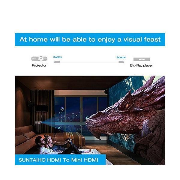 Bonzeal ハイスピード MINI HDMI to HDMIケーブル ミニ 2M イーサネット オーディオリターン 3D 2K 1080P 対応