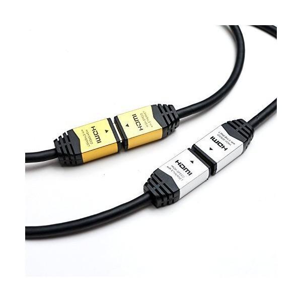 HORIC ハイスピードHDMI延長ケーブル 3.0m シルバー タイプAメス-タイプAオス 4K 3D HEC ARC フルHD 対応 金メッキ端