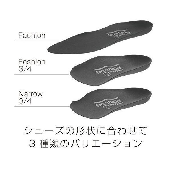 フォームソティックス Formthotics Everyday インソール Fashion 3/4 黒 Mサイズ 26-27cm