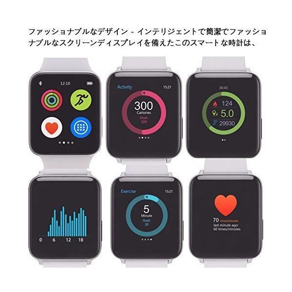 (LUOOV) スマートウォッチ 男性と女性 ブルートゥース 腕時計 スパルタン トレーナー リスト 心拍 速度 IOS Android 黒い