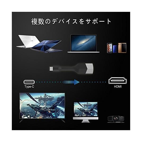 USB TYPE C HDMI 変換アダプター USB C to HDMI変換 4K(Galaxy Note 8用)MacBook 12、MacBo