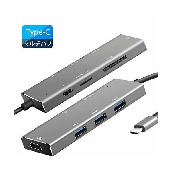 BHOMEA USB C ハブ USB 3.0 Type-c ハブ 7in1 Hub アダプター 4K HDMI出力 USB3.0ポート×3 PD対