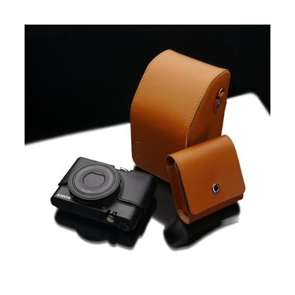 GARIZ ミラーレスカメラ用 本革カメラポーチ CP-LSPLB ライトブラウン