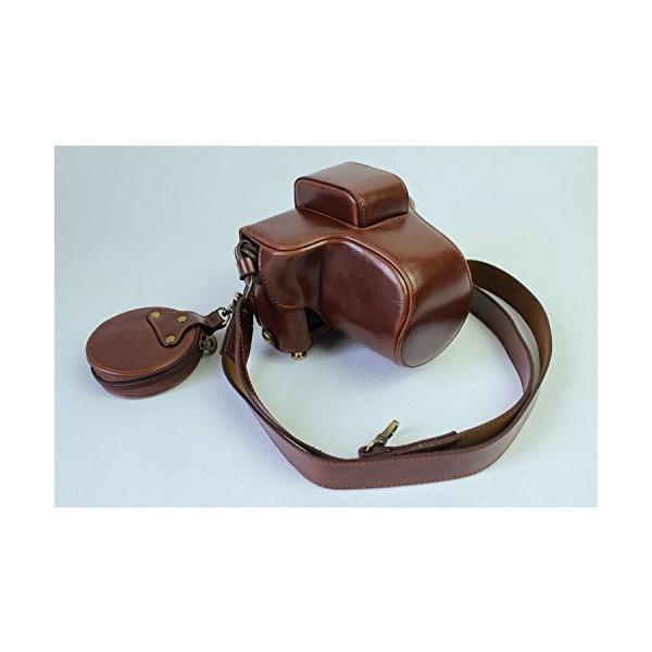 X-E3 ケース,BolinJP 全面保護型 専用カ防水 メラケース カメラバッグ 23mm レンズ バッテリーの交換でき 三脚ネジ穴付き PUレザ
