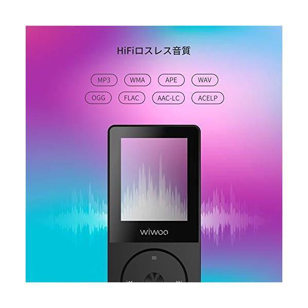 mp3プレーヤーsdカード対応 ロスレス音質再生 音楽プレーヤー 録音 FMラジオ 16GB mp3プレイヤー1.8インチ画面 黒 (Bluetoo