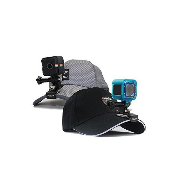 TELESIN 多機能アルミ製クリップ バックパック・ハット快速釈放クリップ ハットクリップ クランプマウント GoPro Hero6/5/4/3+