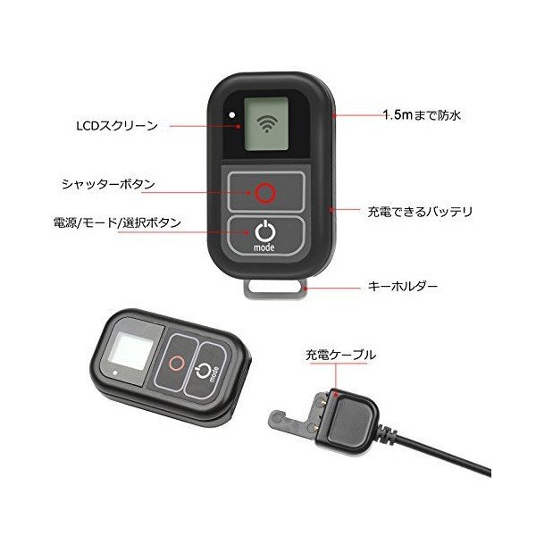 SHOOT GoPro用Wi-Fiリモート for GoPro Hero7 Black/Hero6/Hero5/Hero5 Session/Hero