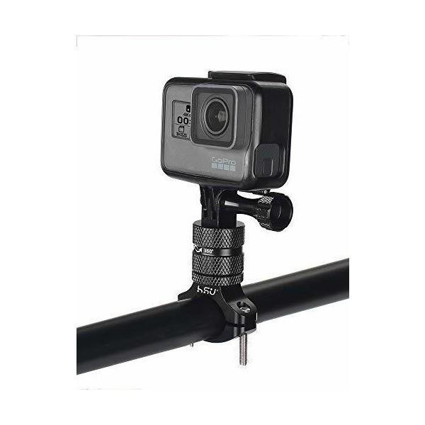 HSU ハンドルバー シートポスト カメラホルダー 360°回転 アルミ製品 自転車固定 GoPro Hero7/6/5/2018/4/3+などに対