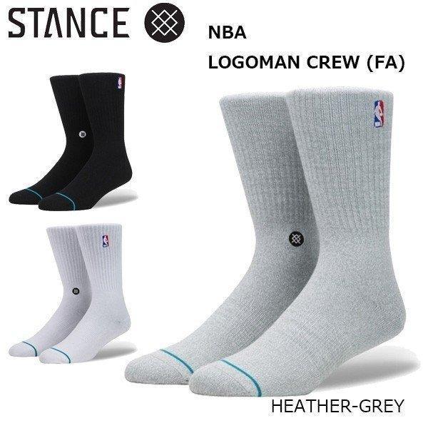 Stance Casual NBA Logoman Crew Black Men/'s Socks M526D17LOG-BLK
