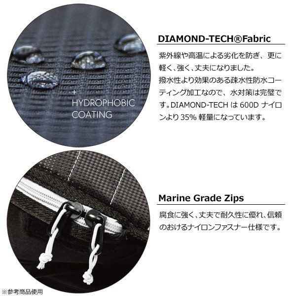 19 CREATURES クリエイチャー RETRO/FISH DAY USE 6'3 D-TECHハードケース 幅広ボード用 ボードケース|move|03