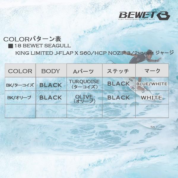 18 BEWET(ビーウェット) 3/2mmシーガル KING LIMITED J-FLAP X S60/HCP NOZIP ジャージ move 06