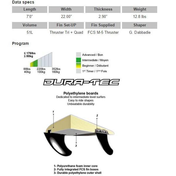 サーフィン 初心者 サーフボード ファンボード ビック BIC 7'0 DURA-TEC Egg SURF MOVE 別注 リミテッド ビックサーフボード|move|03