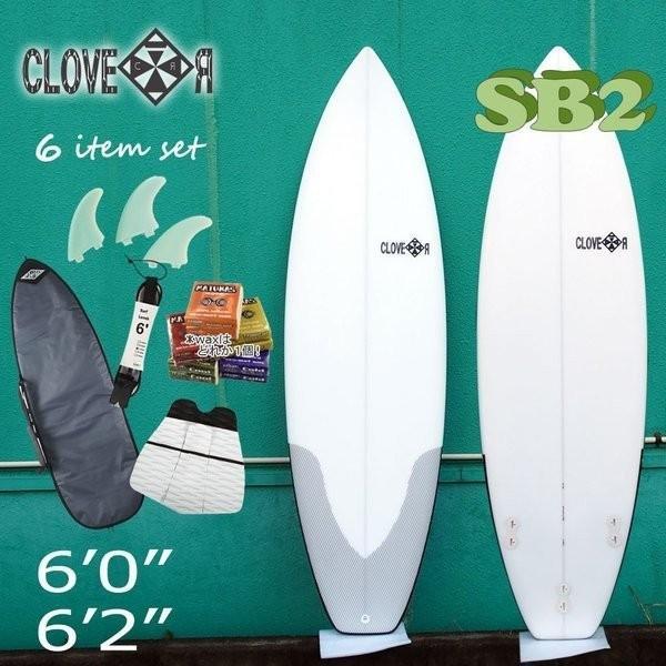 サーフボード ショートボード 初心者セット クローバー ショートボードCLOVER SURFBOARDS SB2 素材/EPS 初〜中級者向け お得6点セット サーフィン 初心者セット move