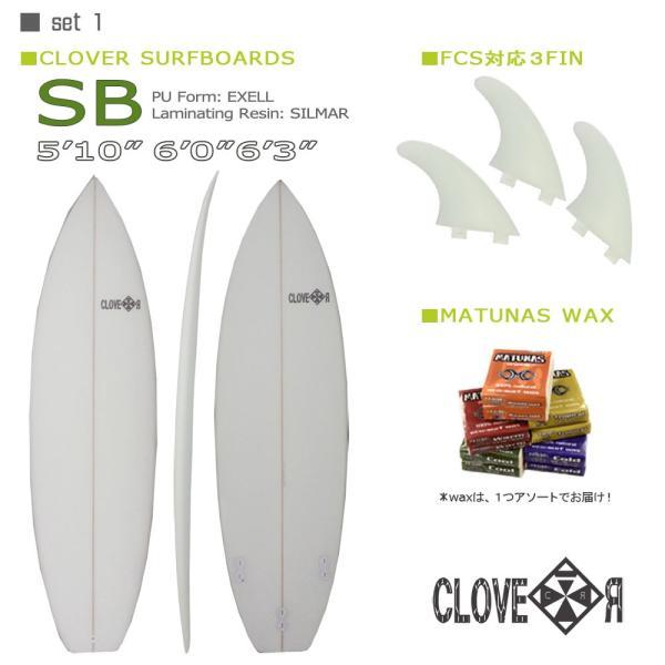 サーフィン スターターお得6点セット CLOVER(クローバー) SURFBOARDS SB ショートボード 素材/PU 初心者 中級者向け|move|02
