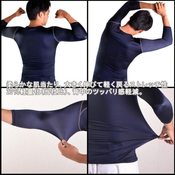 野球 SSK エスエスケイ 一般用フィットアンダーシャツ SCB ローネック 丸首 七分袖|move|05