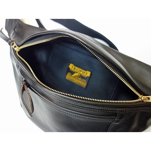 TROPHY CLOTHING トロフィークロージング バッグ Horsehide Day Trip Bag BLACK moveclothing 03