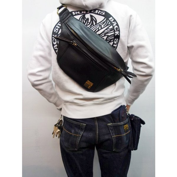 TROPHY CLOTHING トロフィークロージング バッグ Horsehide Day Trip Bag BLACK moveclothing 07