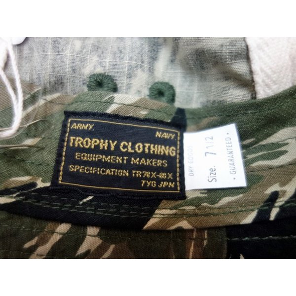 TROPHY CLOTHING トロフィークロージング 帽子 RIP STOP ARMY HAT|moveclothing|05